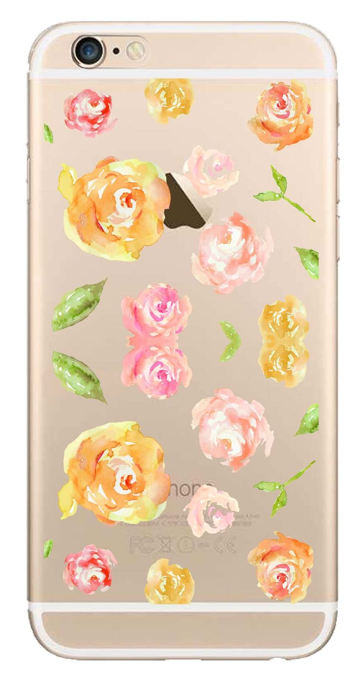 Whatskin DIY Style Color Drawing Flowers Series 05 Clear Back Cover for iphone 6