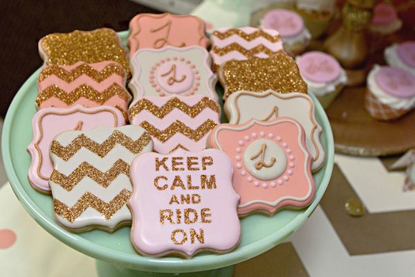 Chevron Cookies - Glitter Cookies - By Lillian Hope Designs
