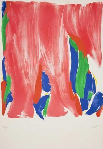 """Olivier DEBRE (1920-1999)  """"Sans titres """" Lithographie,  épreuve"""