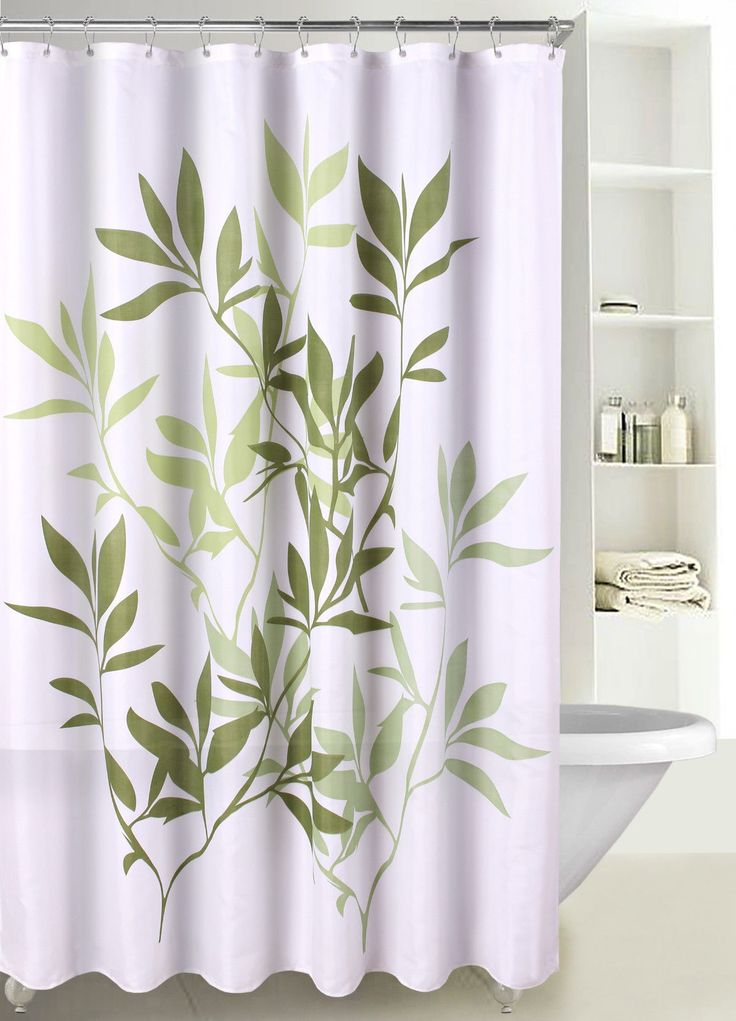 Fabric Shower Curtain Multicolor Forest Leaves With Reinforced Grommets SC 03