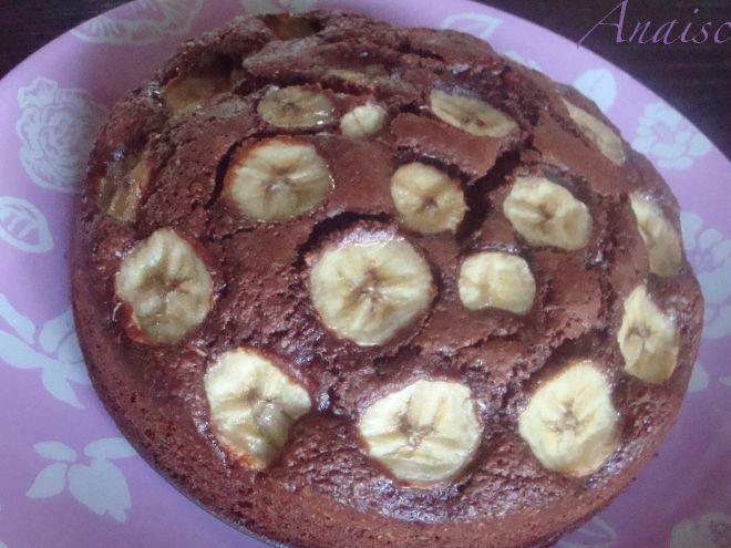 Recette Gâteau moelleux nutella, noisette, banane
