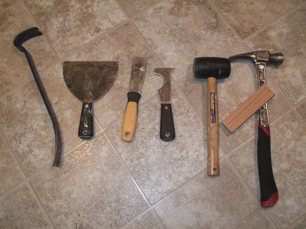 Remove Vinyl Flooring - Tools Needed
