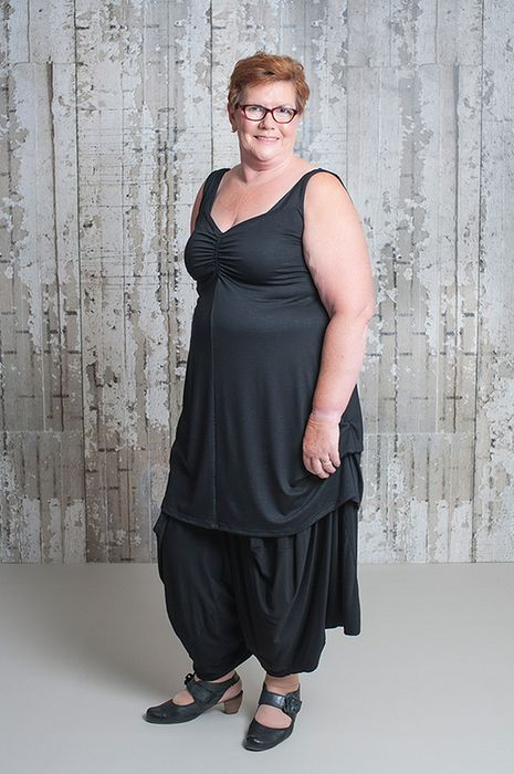 black haremtrousers with top for a size up by Gracy