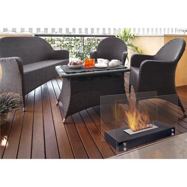 Galina es una preciosa chimenea de bioetanol de sobremesa que también puede colocarse directamente en el suelo y que dará un toque distintivo a tu salón, jardín, terraza, etc.