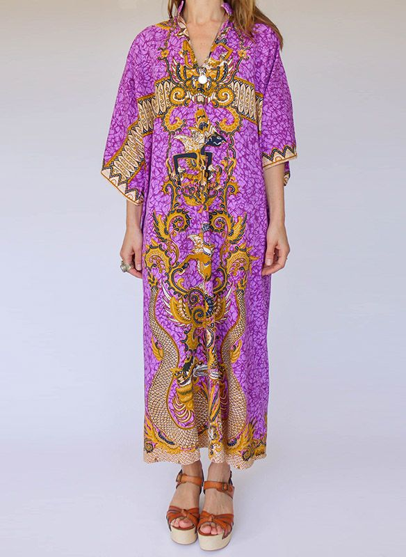 Vintage Batik Kaftan jurk