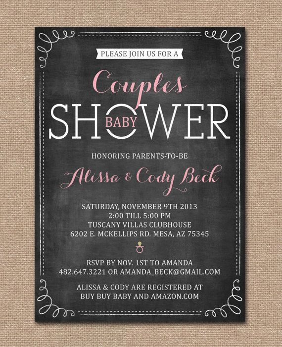 COUPLES BABY SHOWER Invitation Coed Shower by kimberlyjdesign