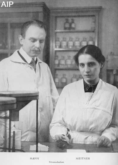 Lise Meitner  (7 or 17 November 1878 – 27 October 1968) was an Austrian-born Physicist. Meitner was part of the team that discovered nuclear fission, an achievement for which her colleague Otto Hahn was awarded the Nobel Prize. Meitner is often mentioned as one of the most glaring examples of women's scientific achievement overlooked by the Nobel committee.