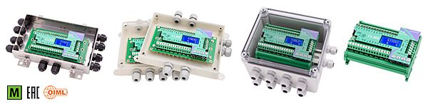 Intelligent junction boxes with backlit graphic LCD display, 38x16 mm, two-line by eight-digit (5 mm height). Four-key keypad for the system calibration. Lightning and electrical shock protection device.   	 The CLM8 series offers the benefits and performance of an advanced digital weighing system even using analog load cells. 8 independent reading channels for load cells. Digital equalization. Automatic diagnostics.