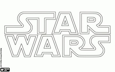 Star Wars logo coloring page Star Wars birthday