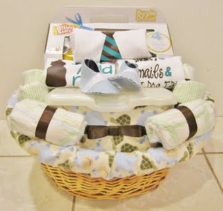 Baby Boy Shower Gift Basket