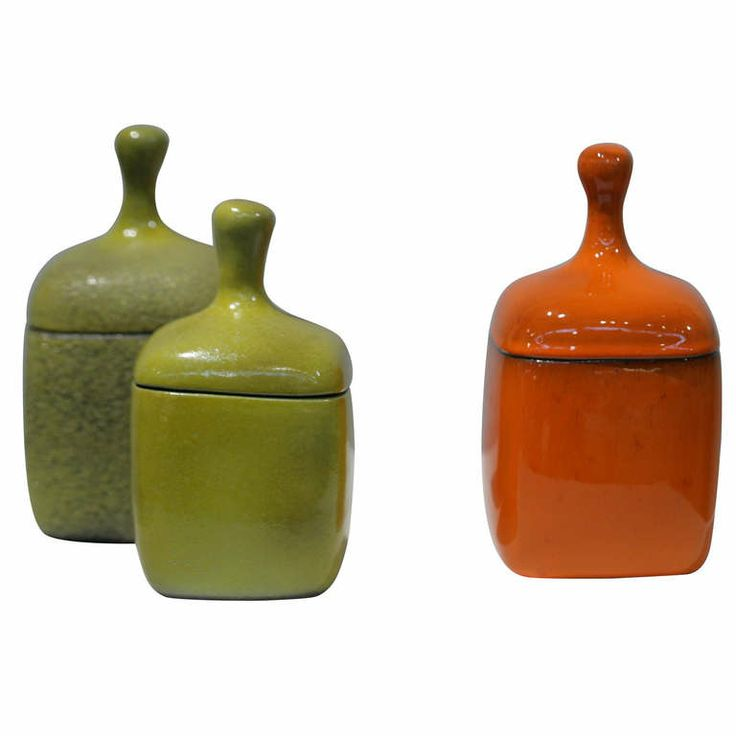 Jacques & Dani Ruelland - Set of Earthenware Pots   From a unique collection of antique and modern ceramics at http://www.1stdibs.com/furniture/dining-entertaining/ceramics/