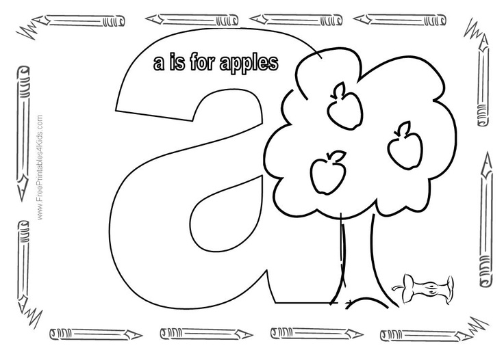 Lowercase Alphabet Coloring Pages : Best images about letter a on pinterest coloring