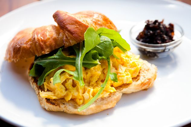 A breakfast croissant at Issi on Bree. Photo courtesy of the restaurant.