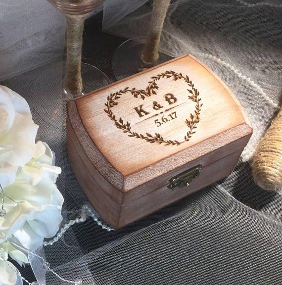 FAST SHIPPING Rustic Ring Bearer Box Wedding Ring Box