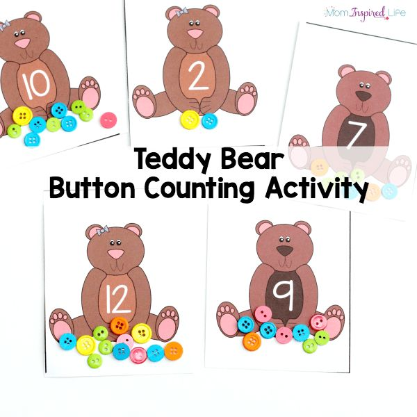 This Teddy Bear Button Counting Activity Is Such A Fun Way To Practice Number