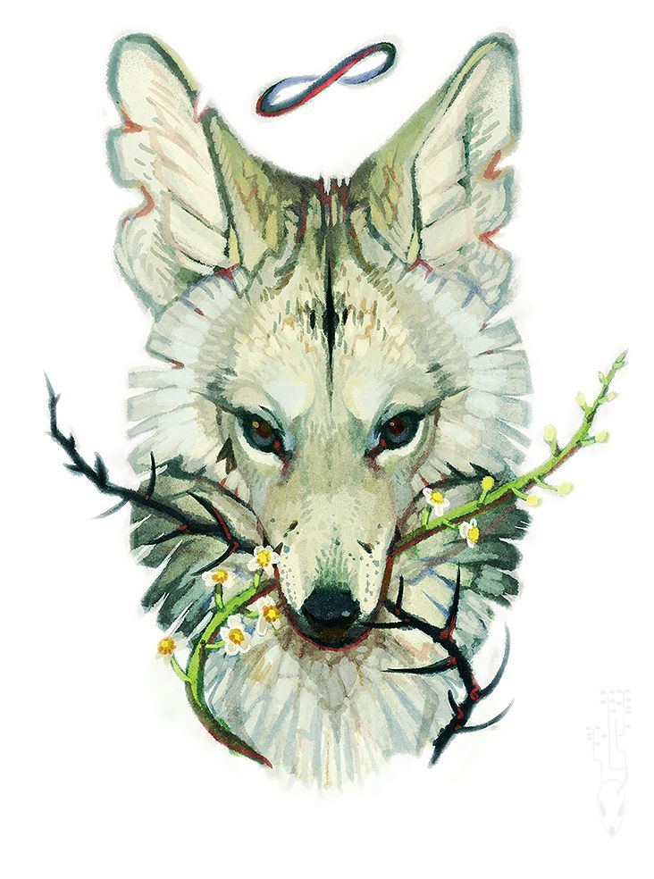 "The coyote bring nothing but trouble, it's symbolism is associated with a deep magic of life and creation; the spirit of resourcefulness and ability to survive.  Darryl: ""Mercy, the way you survive the most impossible things has the pack and myself swallowing antacids regularly.."""
