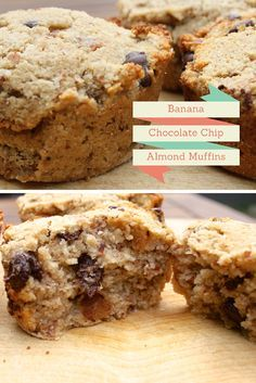 What to do with the almond pulp (wet almond meal) after making almond milk. Make Banana Chocolate Chip Muffins with almond pulp (or cookies). #almondpulp #almondpulprecipe #almondpulpmuffins
