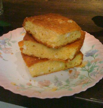 This is not a sweet cornbread. This Yugoslavian cornbread is savoury, comforting and impossibly moist!