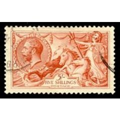 Sea Horse 1913 - 1918: 5s Red SG 416 for R1,000.00 ZAR