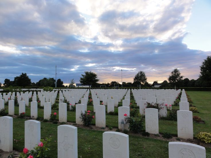 D-Day Cemetery, Bayeux, Normandy, France.  So many young men 17 - 20 years.