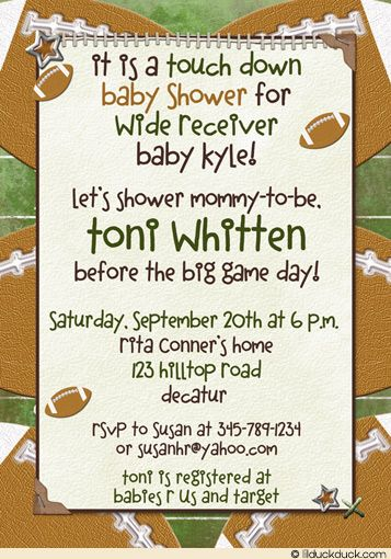 football baby shower baby shower invitations and baby showers