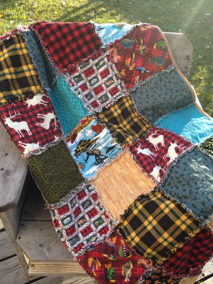 Man Cave Quilt Kit : Best rag quilts images on pinterest deer red