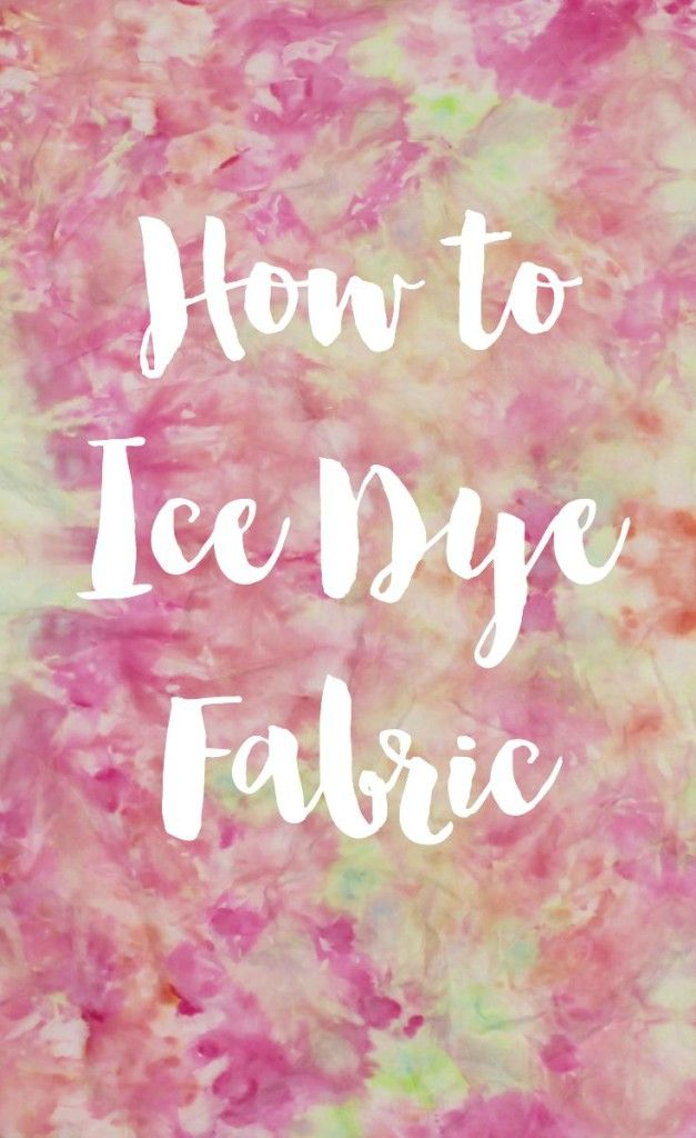 How to give fabric a watercolor effect using Ice Dye! Ice Dye is almost like Tie Dye, but much easier and cleaner! That's a Win-Win situation!