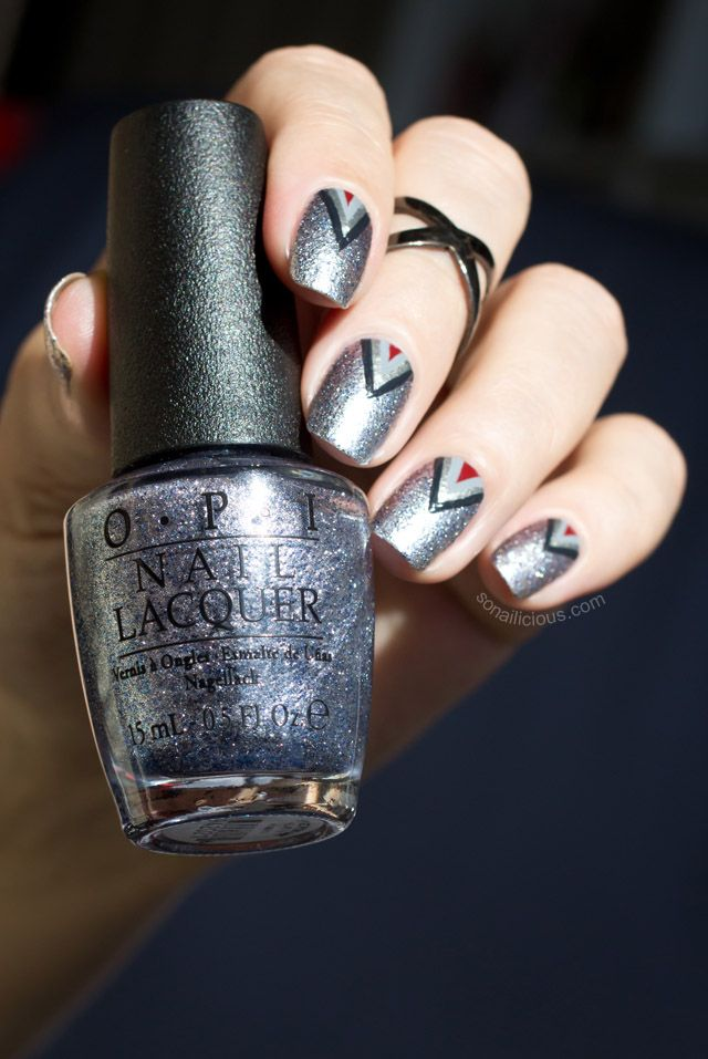 25 best silver nails images on pinterest enamels shoes and keratin 50 shades of grey nail art tutorial prinsesfo Images