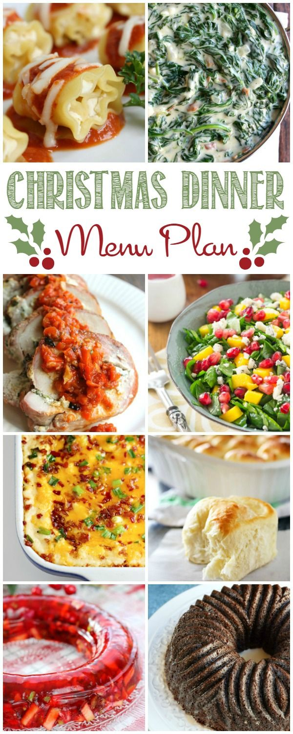 Christmas Dinner Menu Plan
