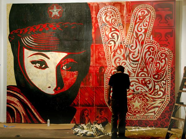 Shepard Fairey, one of my all time favorite artists
