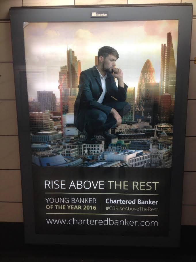 This Advert For the 'Young Banker Of the Year' Award Really Looks Like a Dude Shitting On London | VICE | United Kingdom