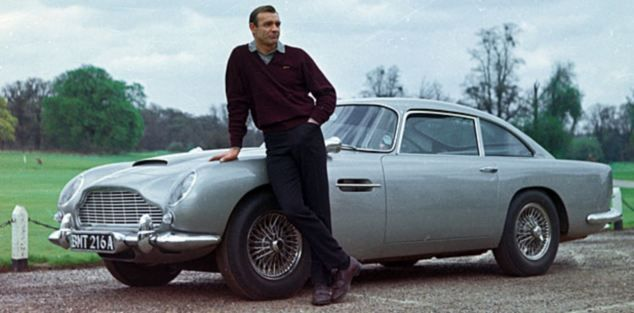 The first outing of the Aston - The Aston Martin DB5 in Goldfinger.
