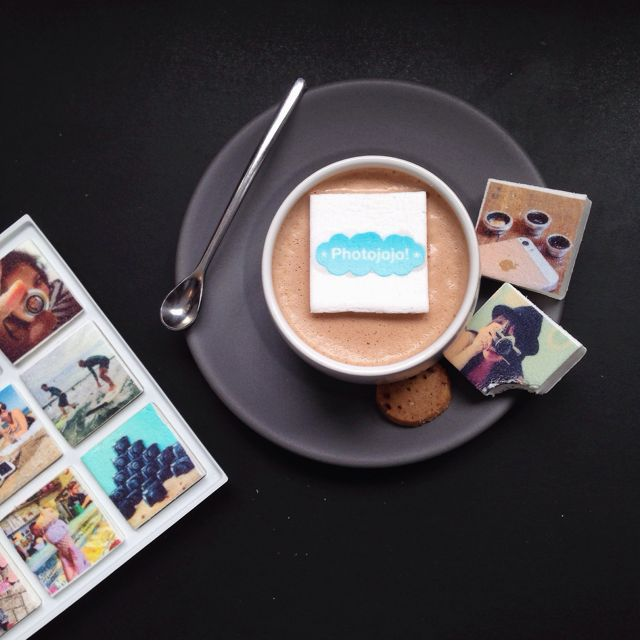 The fine folks at Boomf printed some of the photos from the Photojojo Instagram feed on MARSHMALLOWS!