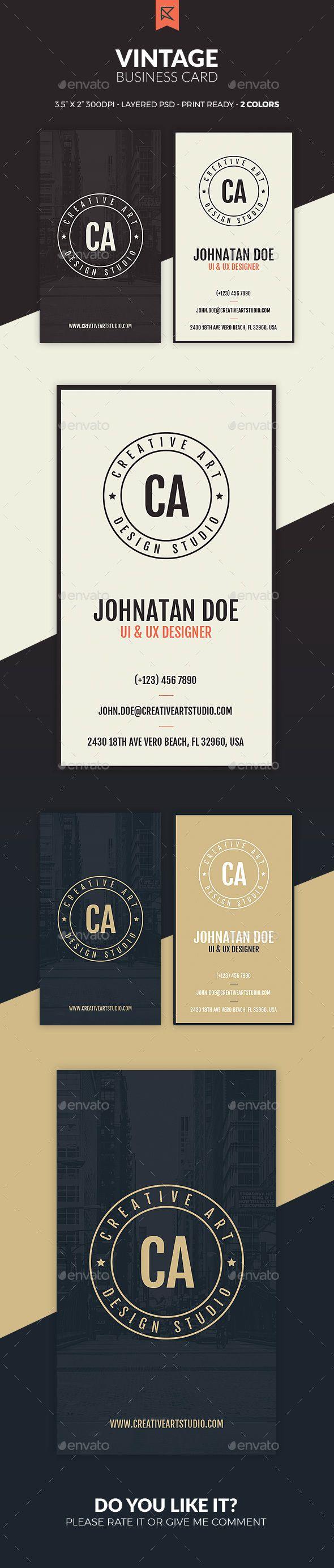 Vintage Business Card - #Business #Cards Print Templates Download here: https://graphicriver.net/item/vintage-business-card/20030943?ref=alena994