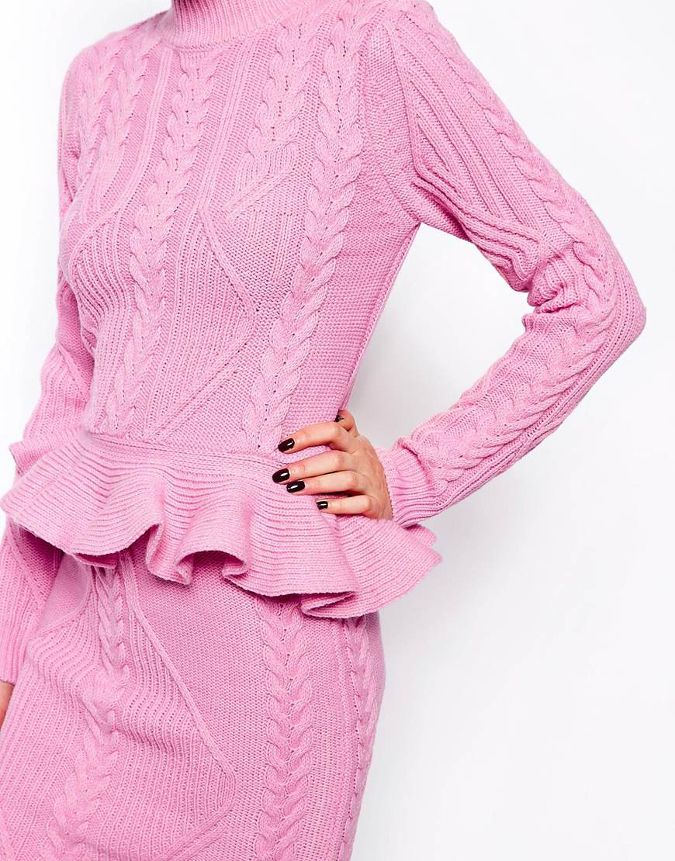 Knit // Feeling completely inspired, excited, and slightly intimidated at the thought of wearing a pink...