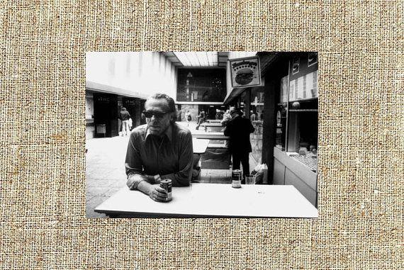 Charles Bukowski photograph Charles Bukowski black and white