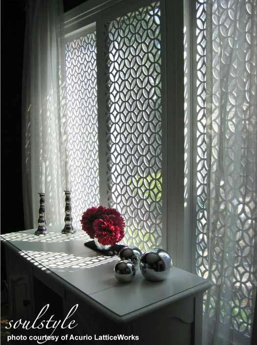 vinyl lattice panels in 2018 inside the home window treatments