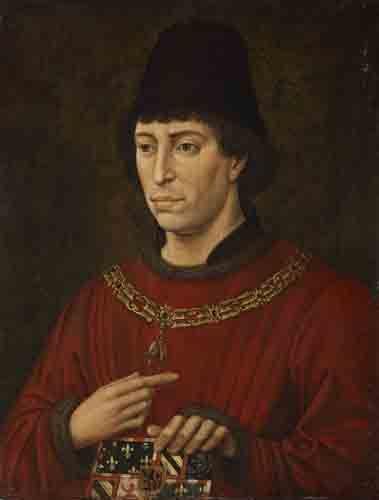 Rogier van der Weyden (d'après ?) : Portrait de Charles le Téméraire (1433 - 1477), duc de Bourgogne