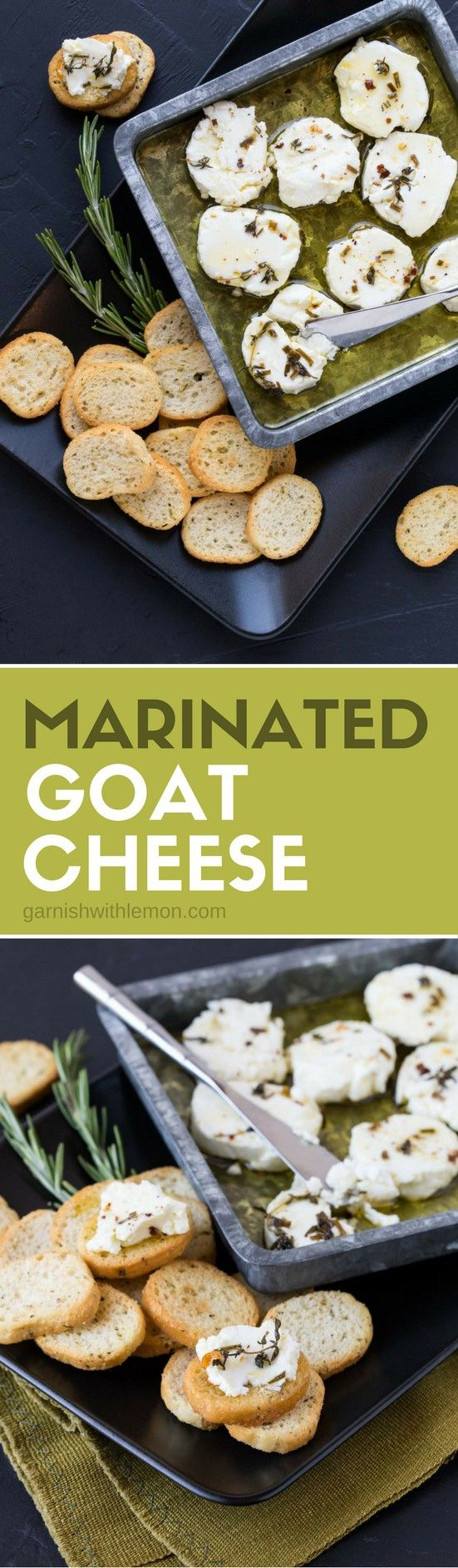 Calling all goat cheese lovers! This Marinated Goat Cheese recipe is a perfect appetizer for parties. Not only is it delicious, but it is make-ahead and uses just a handful of ingredients.