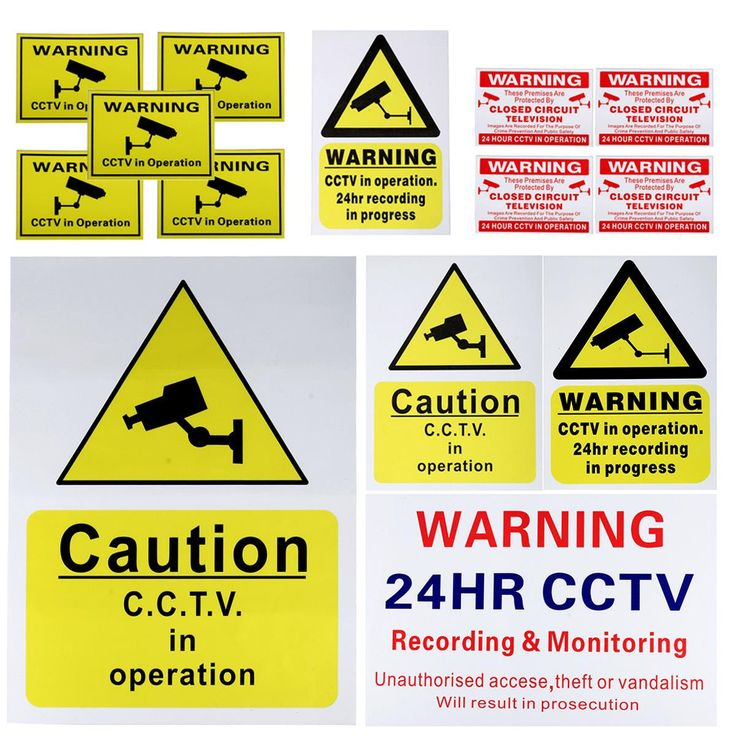 Cctv Camera Security Camera Warning Sticker Sign Decal Cctv Recording Shop. Description:  	 	CCTV Camera Security Camera Warning Sticker Sign Decal CCTV Recording Shop 	 	Features: 	   	- Brand new and high quality.  	- Waterproof, not scuff, not fade and scratch resistant.  	- With adhesive, easily posted and removed.  	- Can be applied to any smooth surface.  	- Can be used for indoor and outdoor environments.  	- These signs are your first line of defense against criminals  	…