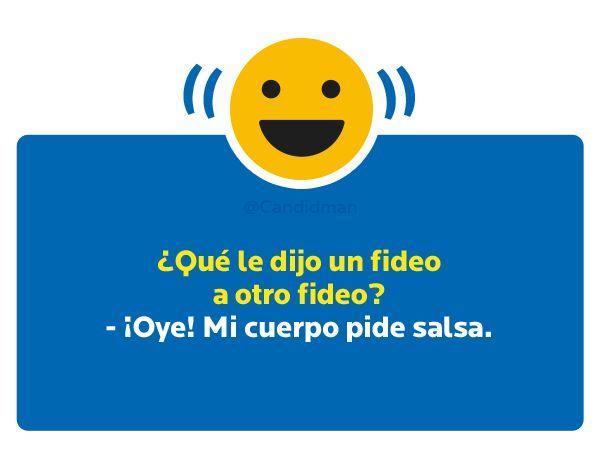 ¿Qué le dijo un #Fideo a otro #Fideo?  - ¡Oye! Mi cuerpo pide salsa... #Humor vía @Candidman