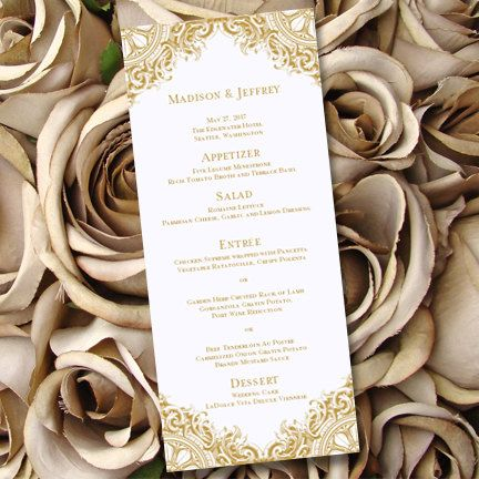 17 best ideas about Wedding Menu Template – Dinner Party Menu Templates Free Download