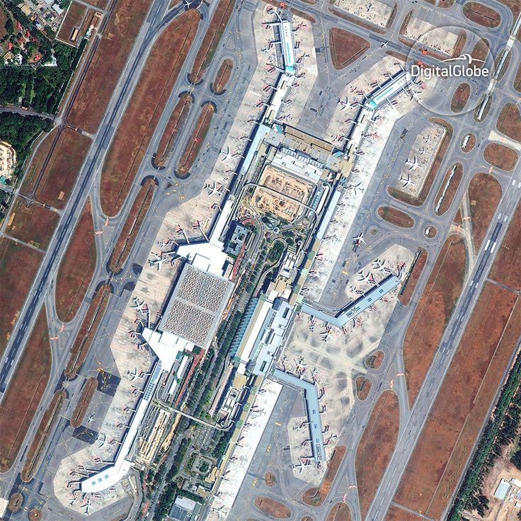 Changi Airport in Singapore © DigitalGlobe