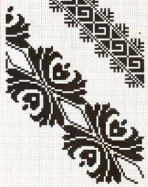 Counted cross stitch pattern - Romanian embroidery -17