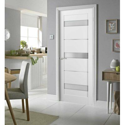 Sartodoors Quadro Glass Standard Door With Installation Hardware Kit Size 36 X 84 Internal Doors Doors Interior White Internal Doors