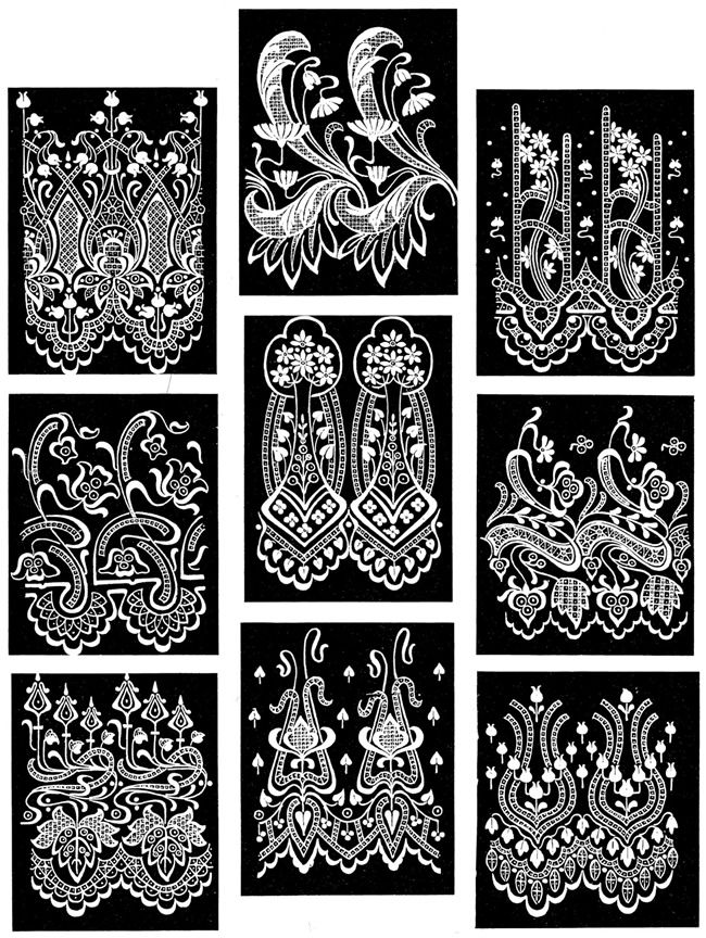 Pictorial Archive of Lace Designs: 325 Historic Examples  (Dover Publications)  #doodle  #pattern