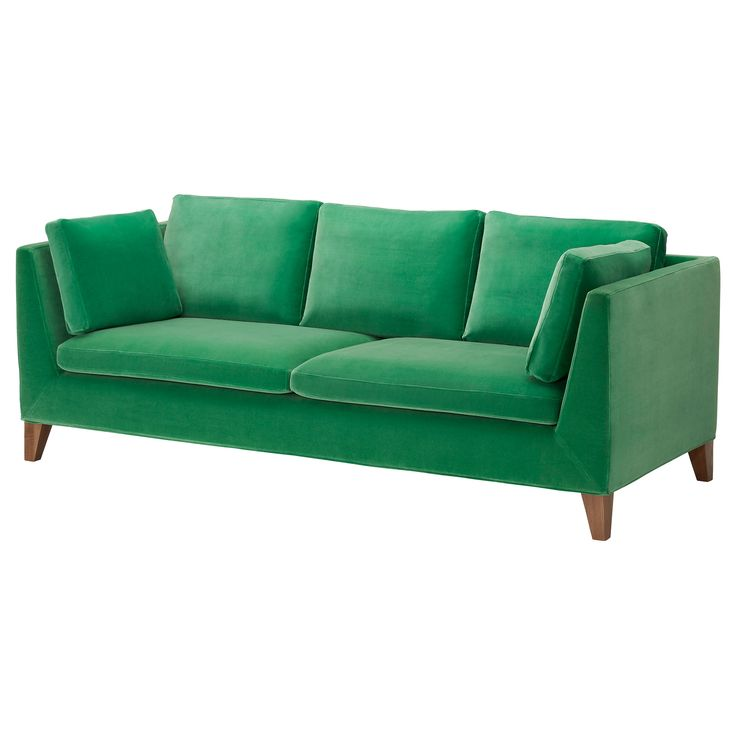 not gonna lie. pretty in love with this new @IKEA sofa! //  STOCKHOLM  in sandbacka green  -  love the sofa, another color