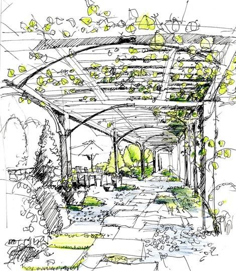 25 best ideas about landscape architecture perspective on for Online architecture drawing