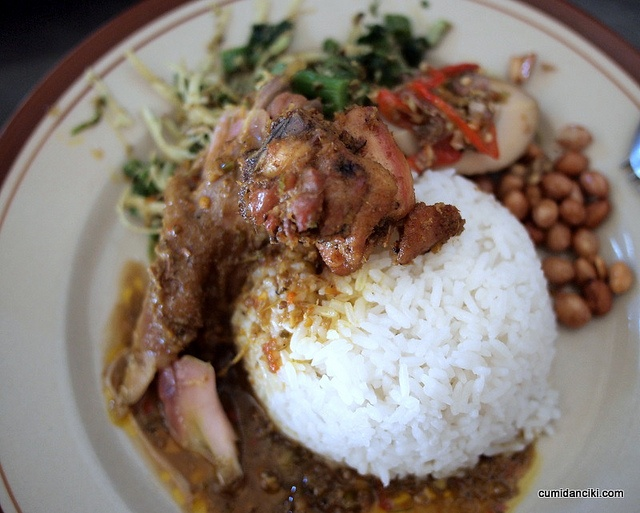 Real Balinese food #NasiAyamIbuOki
