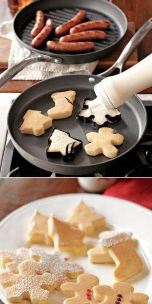 Leuk idee; kerstpannenkoeken